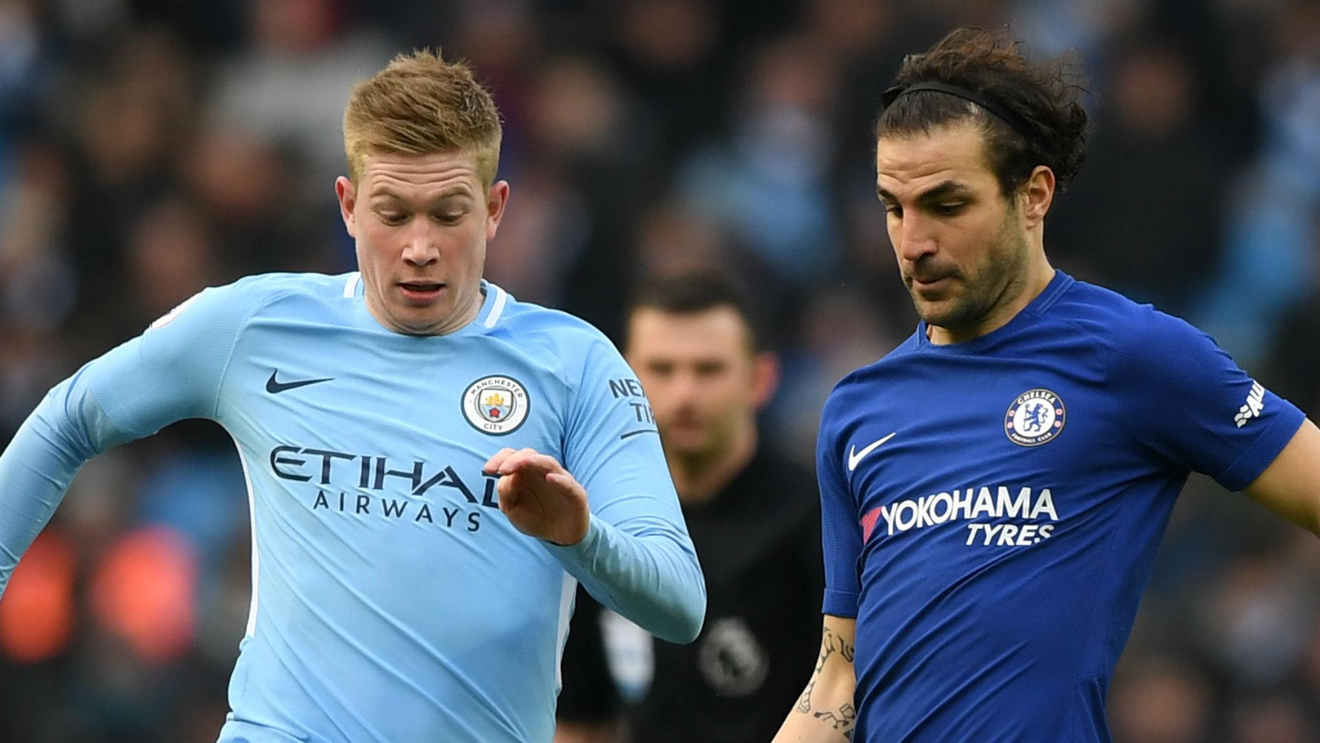Kevin De Bruyne Manchester City Cesc Fabregas Chelsea