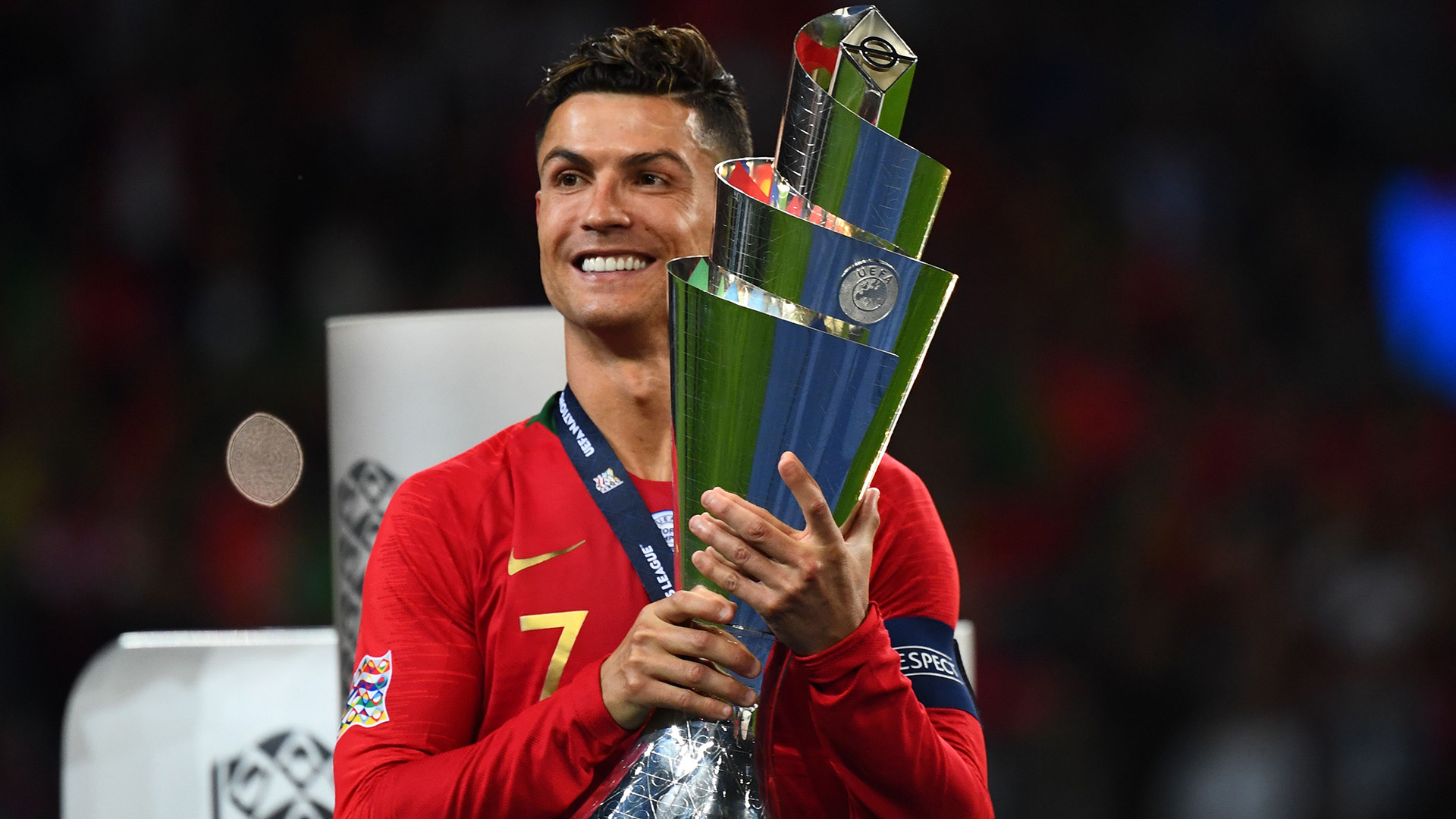 Cristiano Ronaldo Portugal Nations League trophy 2019