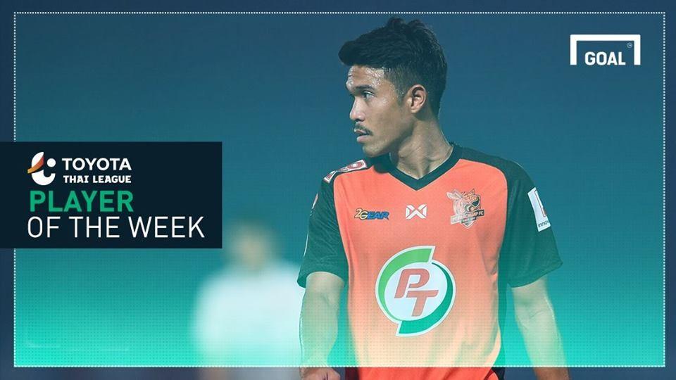 ผลการค้นหารูปภาพสำหรับ Toyota Thai League Player of the Week 5 : จิตปัญญา ทิสุด
