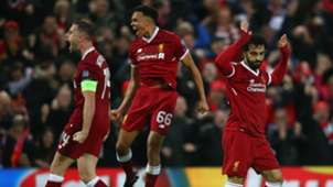 Mohamed Salah Jordan Henderson Trent Alexander-Arnold Liverpool Roma Champions League