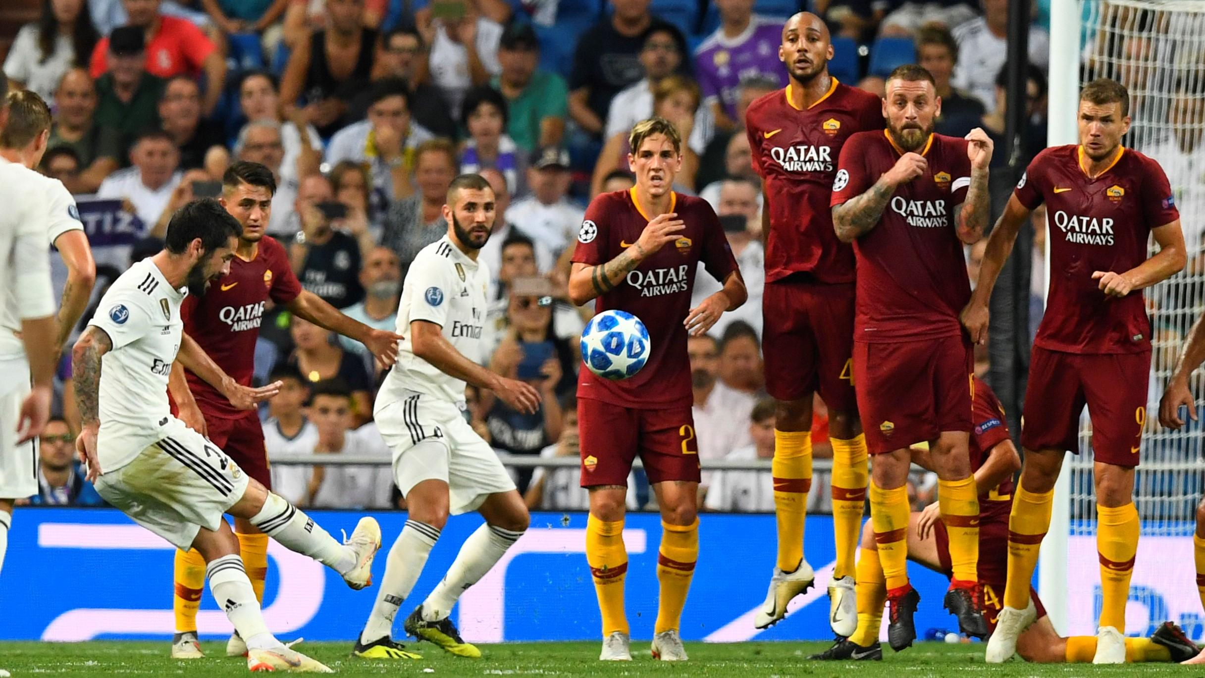 Isco Alarcon Real Madrid Roma UCL 19092018