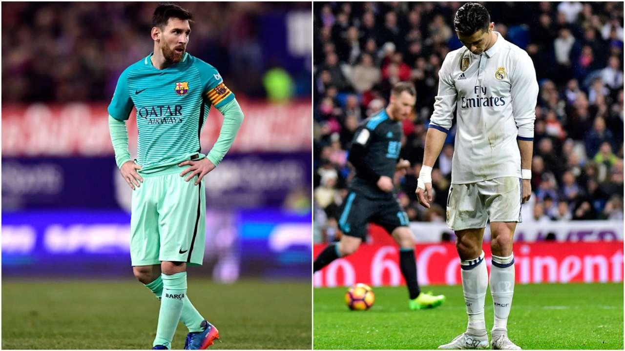 Lionel Messi Cristiano Ronaldo collage