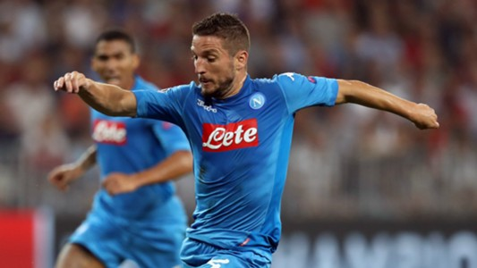 Dries Mertens Nice Napoli Champions League 22082017