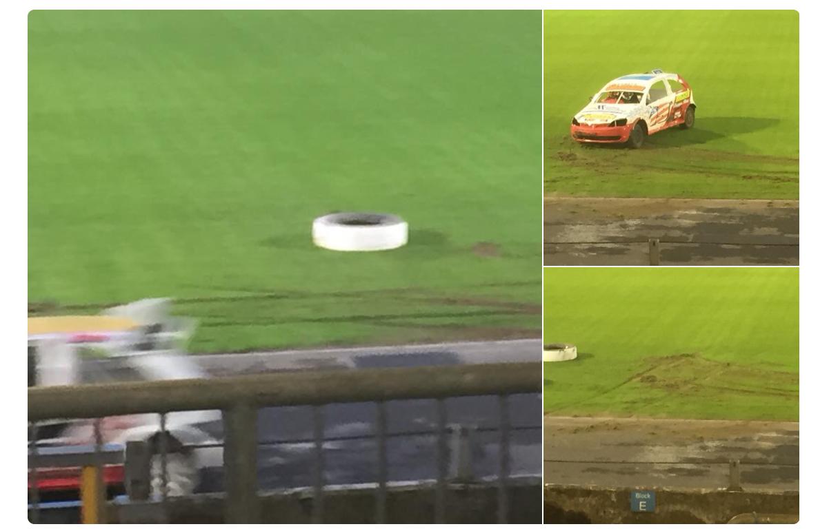Ballymena United turf destroyed