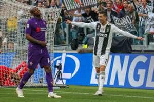 Cristiano Ronaldo comemora gol da Juventus diante da Fiorentina