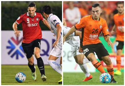 Xisco Muangthong United Nicholas D'Agostino Brisbane Roar AFC Champions League