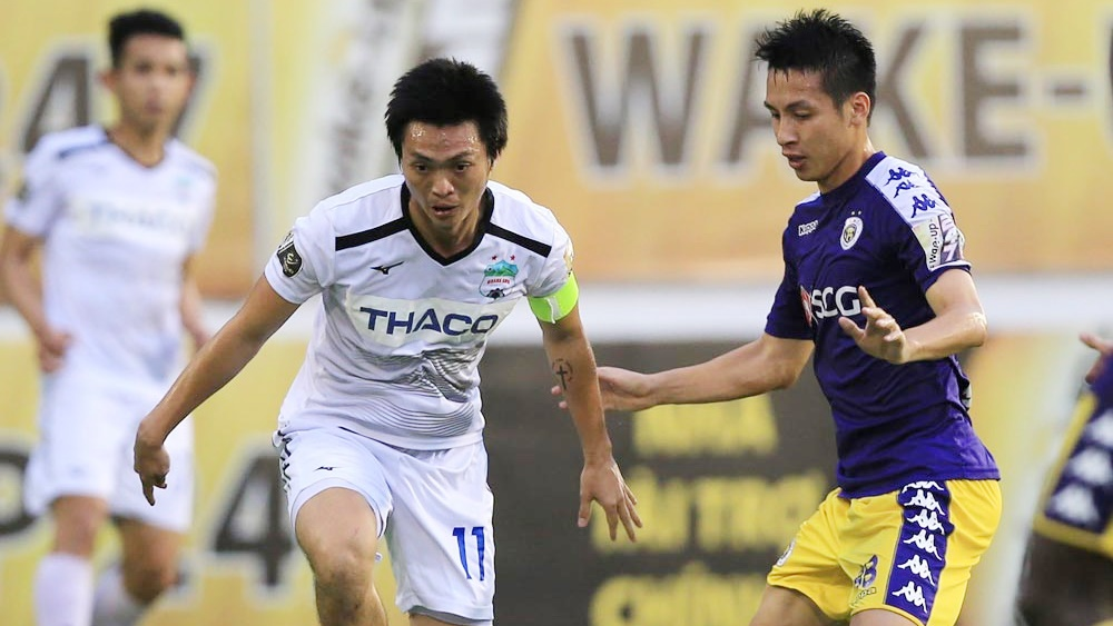Nguyen Tuan Anh vs Do Hung Dung HAGL vs Ha Noi FC Round 12 V.League 2019