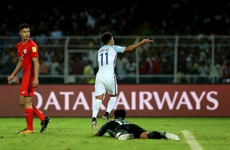 Jadon Sancho England U17 vs Chile