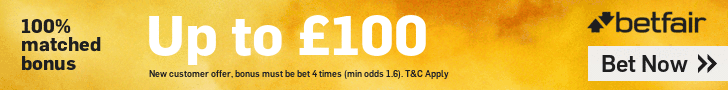 BETFAIR FOOTER £100 MATCHED