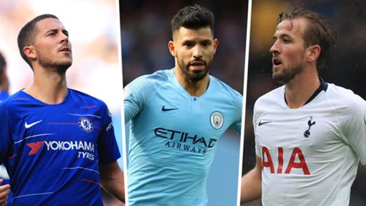 Hazard Aguero Kane PL top scorers 2018-18