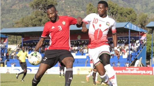 Masoud Juma of Harambee Stars v Libya.