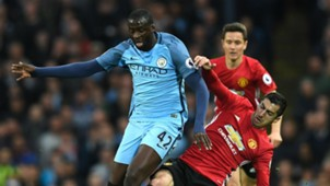 Yaya Toure Manchester City Henrikh Mkhitaryan Manchester United