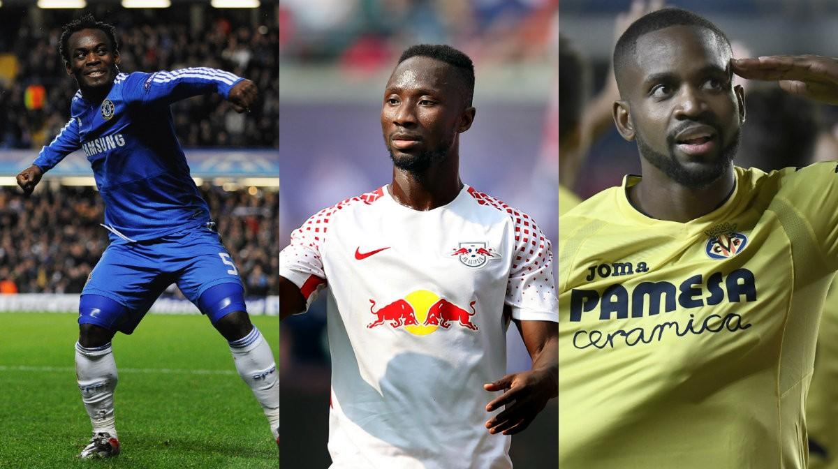 Collage Teuerste Afrikanische Fußballer