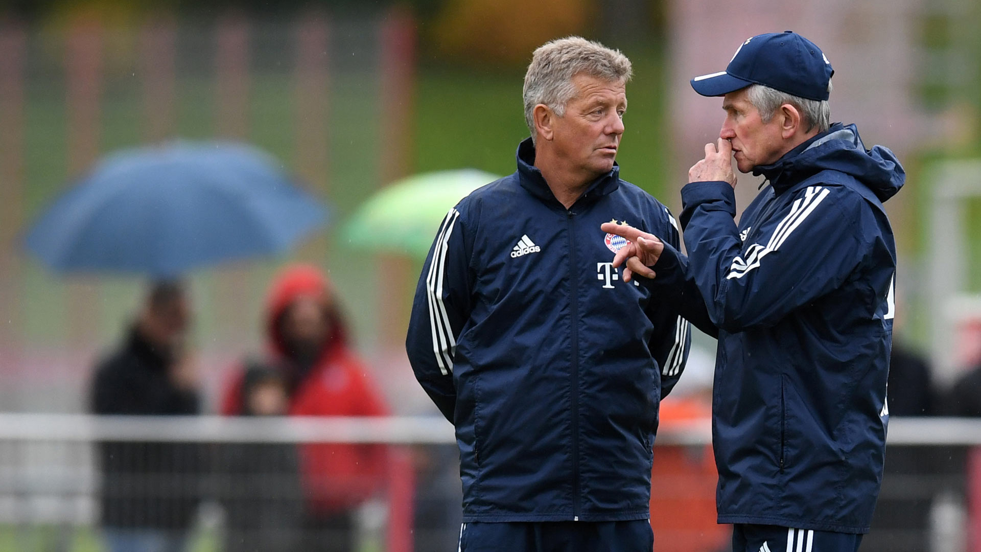 Jupp Heynckes Peter Hermann FC Bayern Training