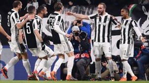 Juventus celebrating vs Tottenham Champions League