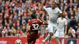 Joel Matip Anthony Martial Liverpool Manchester United 141017