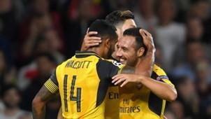 Santi Cazorla Theo Walcott Arsenal