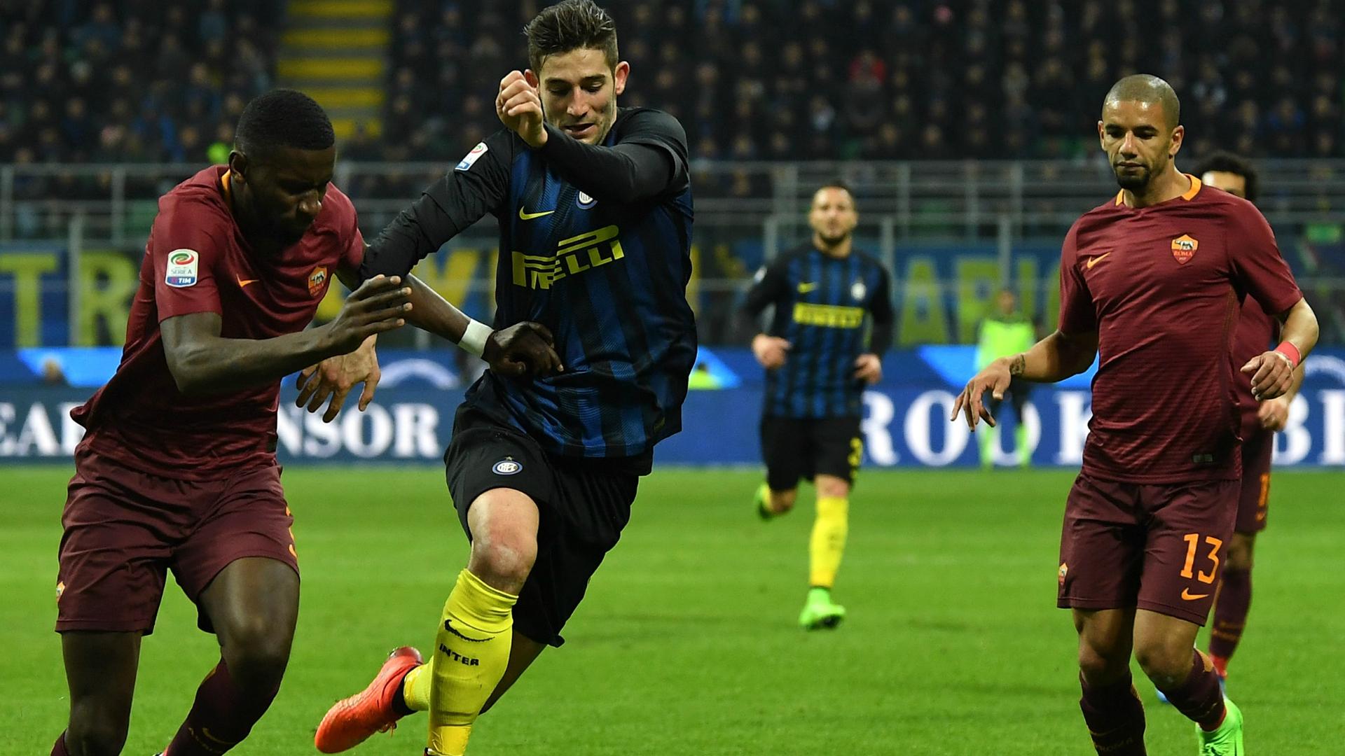 Toni Rudiger Roberto Gagliardini Inter Roma Serie A 26022017