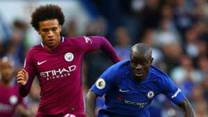 Leroy Sane Manchester City NGolo Kante Chelsea