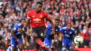 Paul Pogba scores penalty vs Leicester