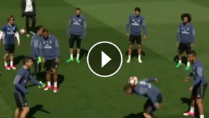 video cristiano ronaldo entrenamiento real madrid