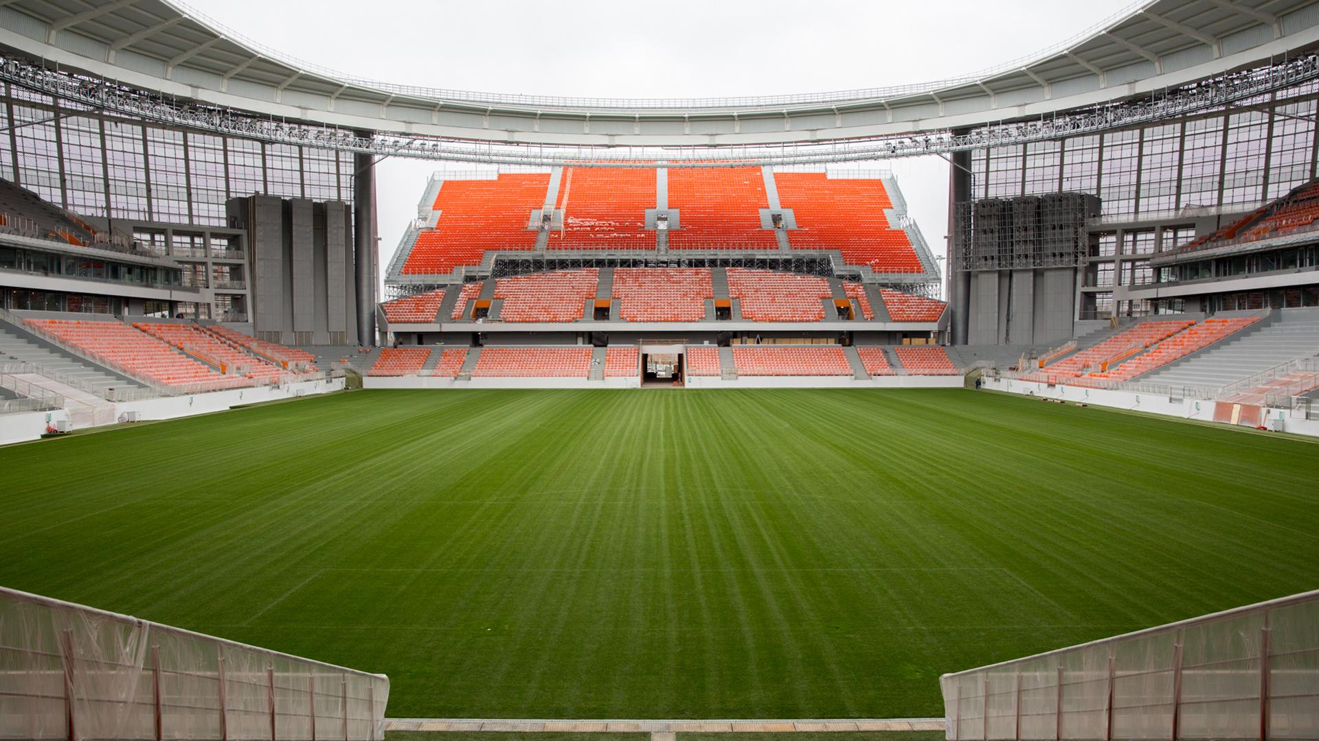 Russland Stadion Tribüne Außerhalb