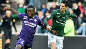 Max-Alain Gradel Vincent Pajot Saint-Etienne Toulouse Ligue 1 14012018