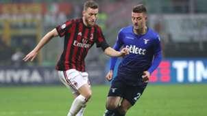Ignazio Abate Sergej Milinkovic Savic Milan Lazio Coppa Italia