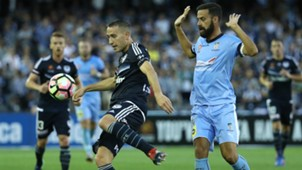 Alan Baro Alex Brosque Melbourne Victory v Sydney FC A-League 26012017
