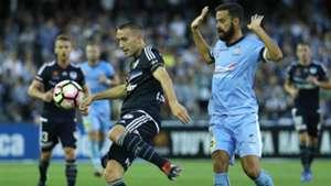 Alan Baro Alex Brosque Melbourne Victory v Sydney FC A-League 26012017