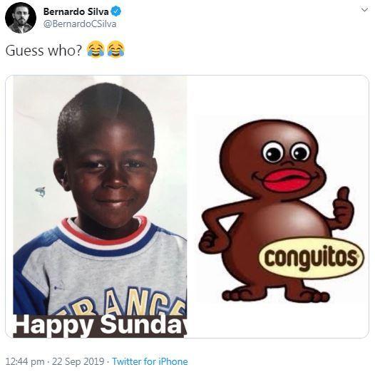 Bernardo Silva Tweet Mendy