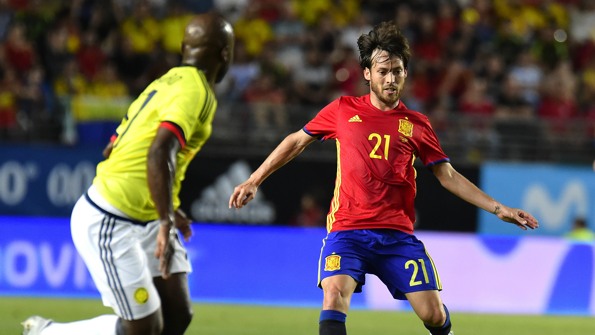 David Silva Spain Colombia Friendly 07062017
