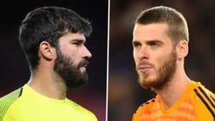 Alisson Becker David De Gea Liverpool Man Utd 2018