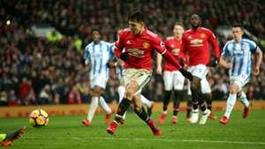 Alexis Sanchez, Man Utd vs Huddersfield, 17/18