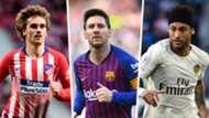 Antoine Griezmann Lionel Messi Neymar GFX