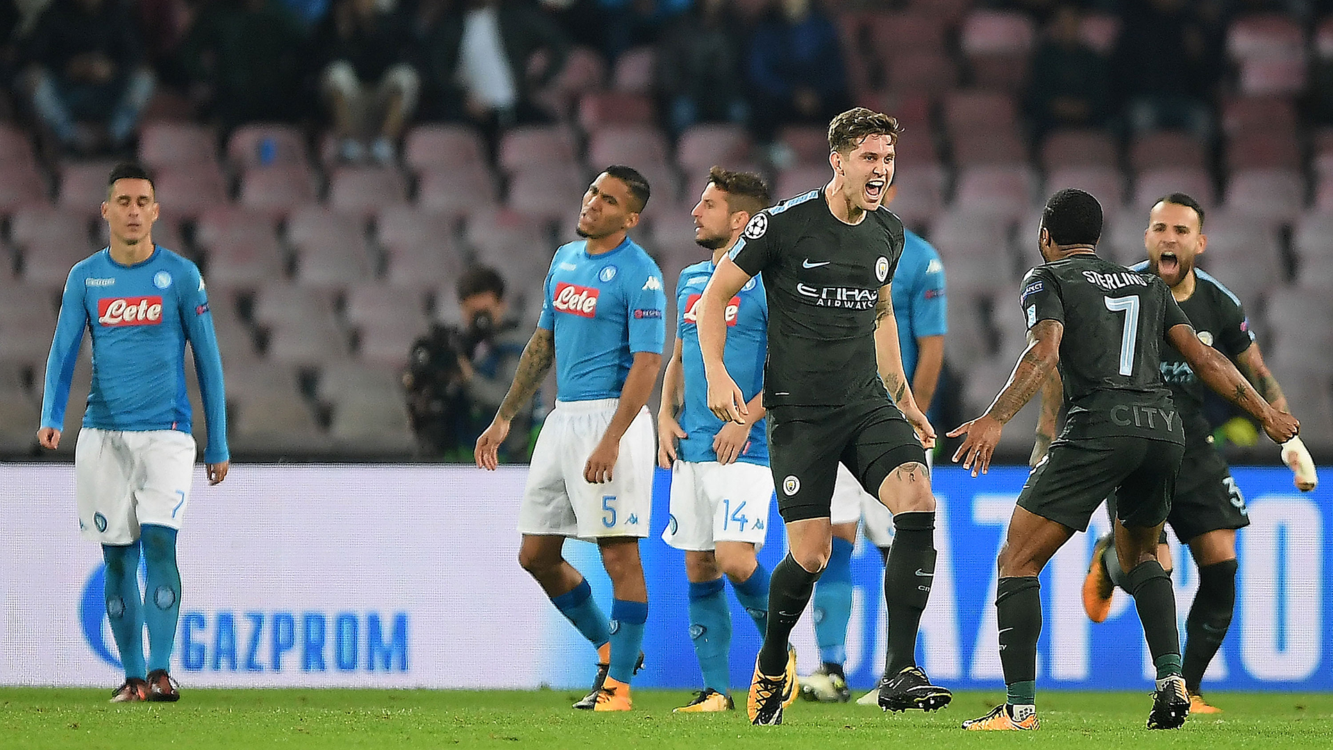 John Stones Napoli Man City
