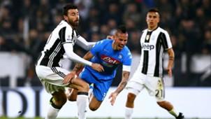 Marek Hamsik Andrea Barzagli Juventus Napoli Coppa Italia