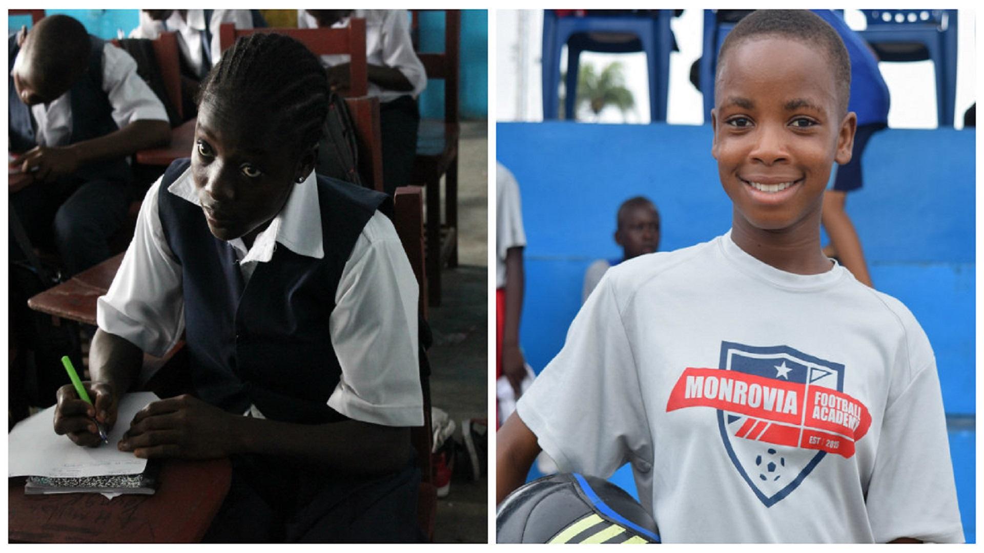 Blessing and Jessica, Monrovia football