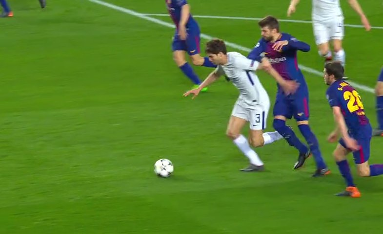 Penalti Marcos Alonso Barcelona Chelsea
