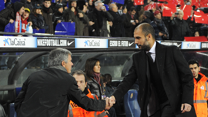 Pep Guardiola Jose Mourinho Barcelona Real Madrid 2010