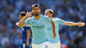 Sergio Agüero Manchester City Community Shield 05082018