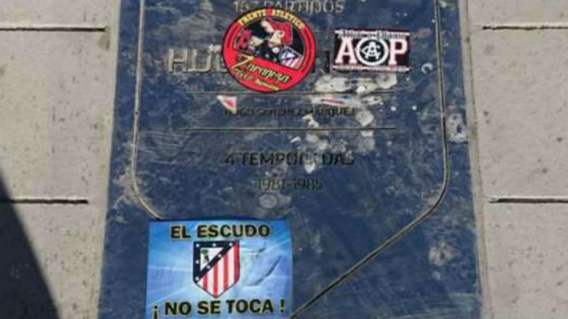Placa Hugo Sanchez Atletico Madrid Wanda Metropolitano 16092017