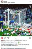 레알 베티스 팬들이 베니토 비야마린 잔디 위로 던진 인형들. 사진=라리가 공식 인스타그램