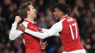 Nacho Monreal, Alex Iwobi, Arsenal
