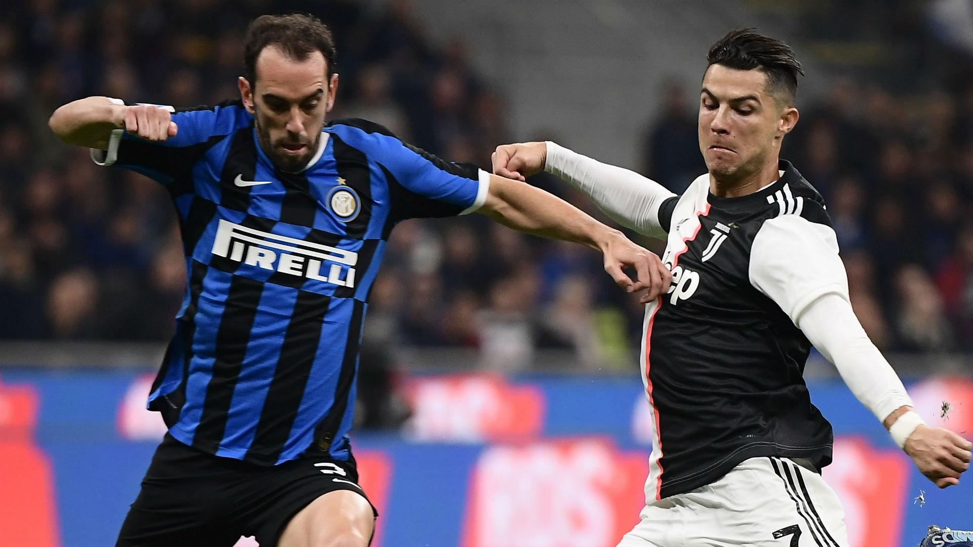 Godin Cristiano Ronaldo Inter Juventus Serie A