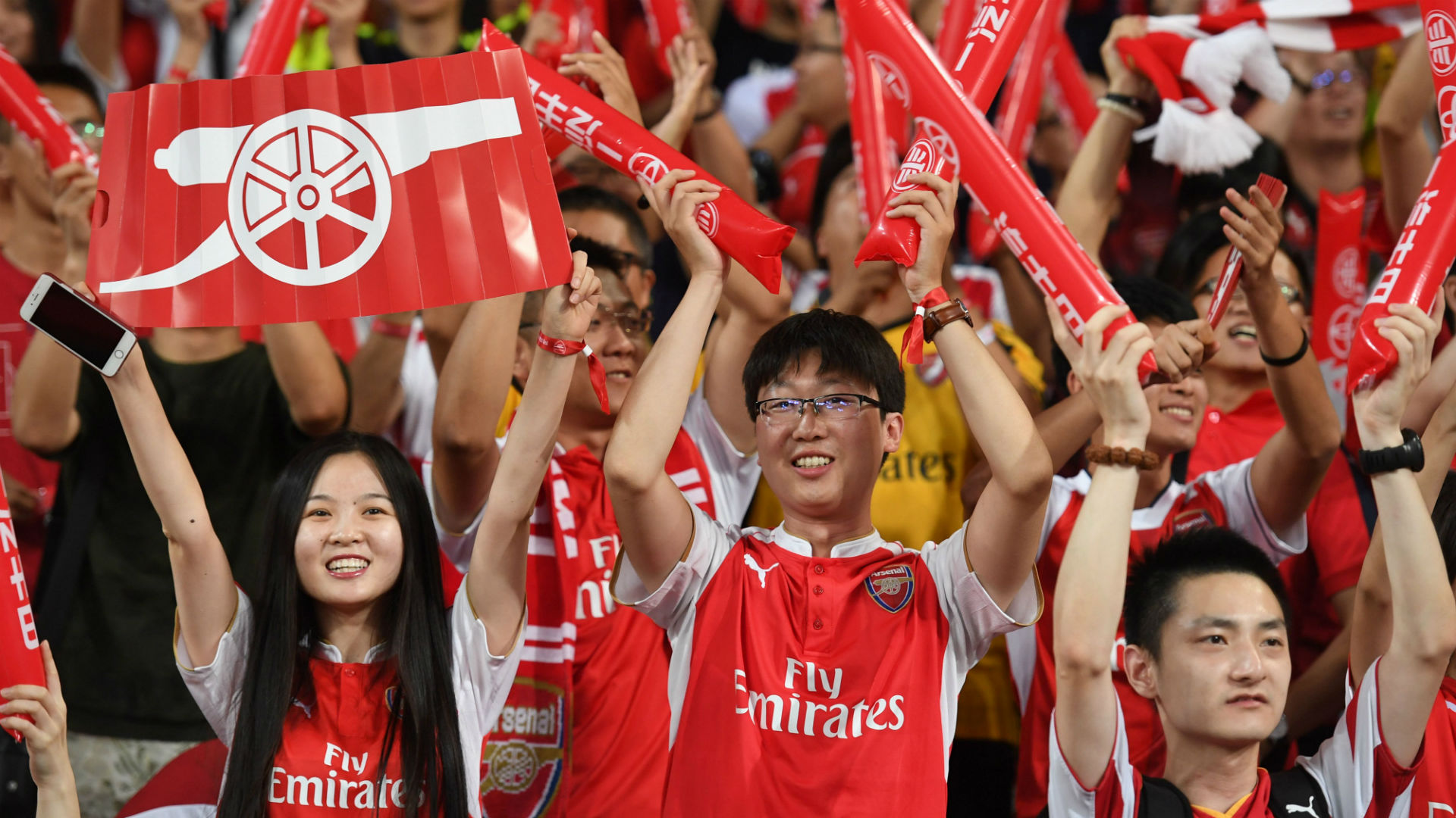 Arsenal fans China