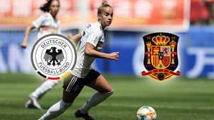 GFX Germany Spain Women's World Cup