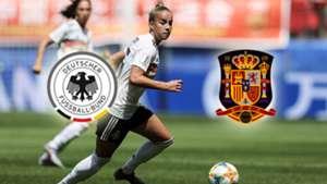 GFX Germany Spain Women's World Cup