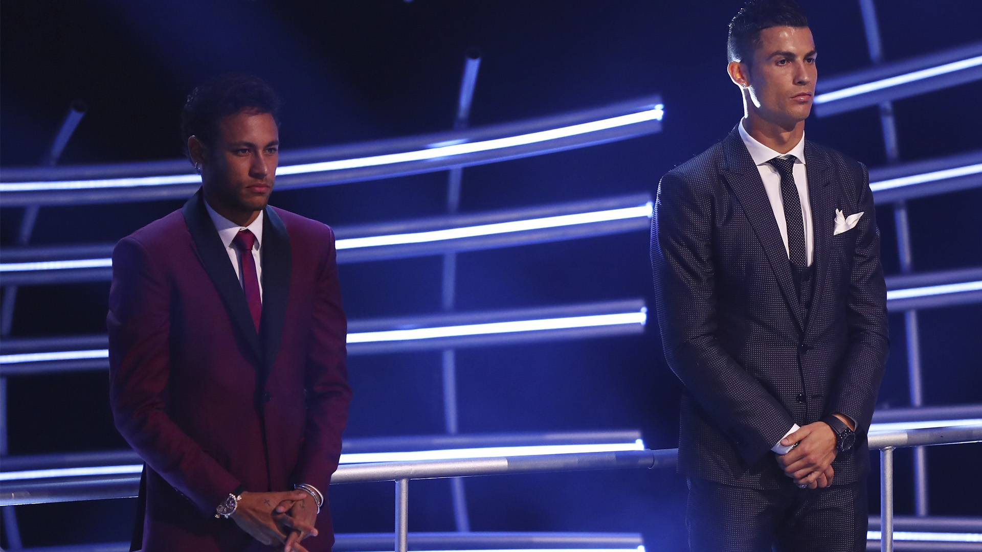 Neymar e Cristiano Ronaldo prêmio The Best 2017 23 10 17