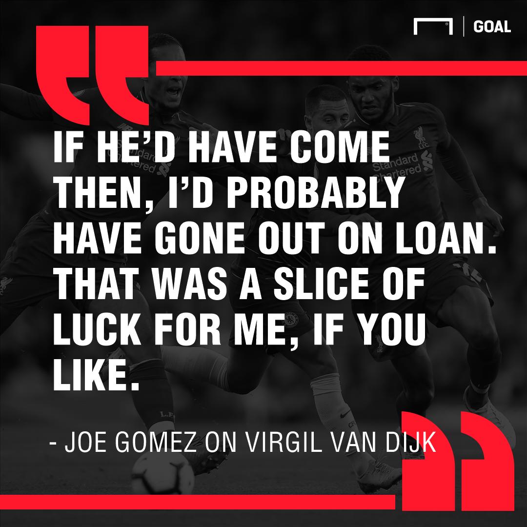 Joe Gomez on Virgil van Dik 2019